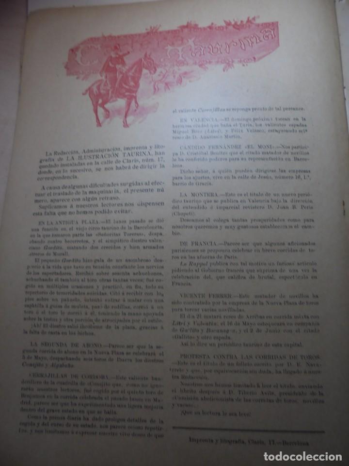 Tauromaquia: magnificas 8 revistas antiguas la ilustracion taurina del 1901 - Foto 69 - 247329780
