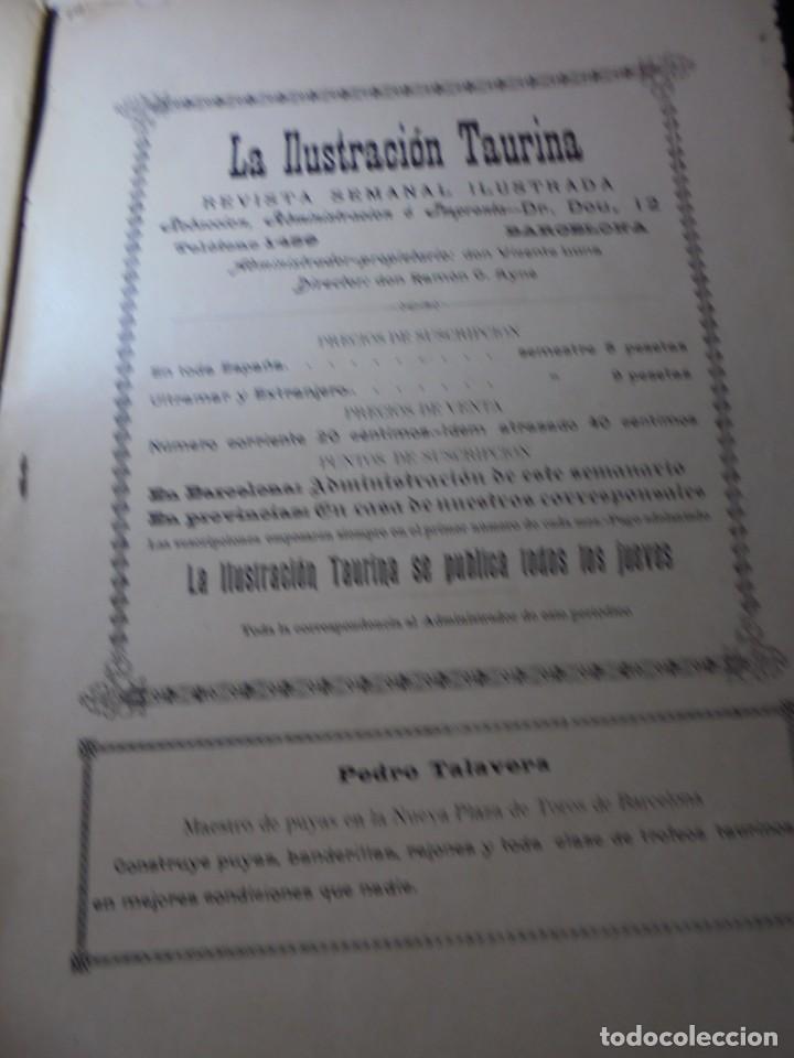 Tauromaquia: magnificas 8 revistas antiguas la ilustracion taurina del 1901 - Foto 70 - 247329780