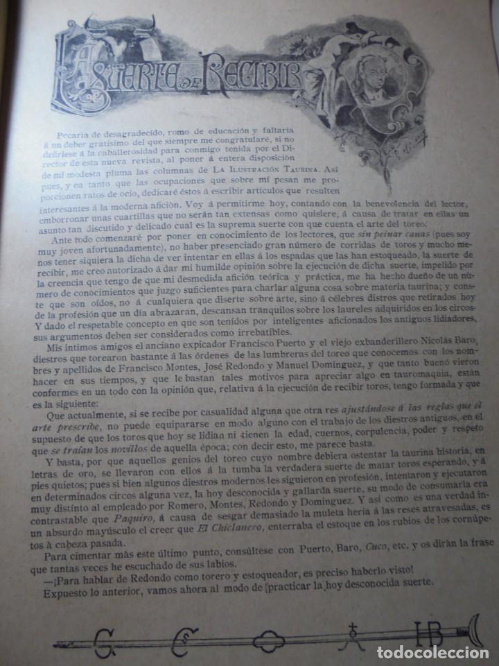 Tauromaquia: magnificas 8 revistas antiguas la ilustracion taurina del 1901 - Foto 81 - 247329780