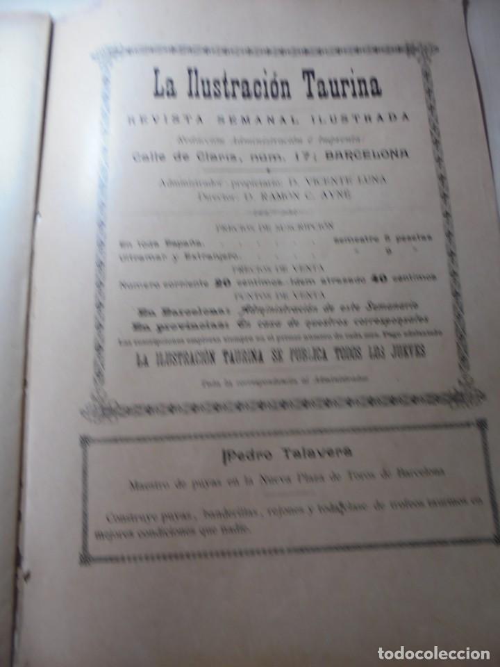 Tauromaquia: magnificas 8 revistas antiguas la ilustracion taurina del 1901 - Foto 93 - 247329780