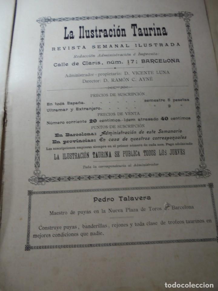 Tauromaquia: magnificas 8 revistas antiguas la ilustracion taurina del 1901 - Foto 112 - 247329780