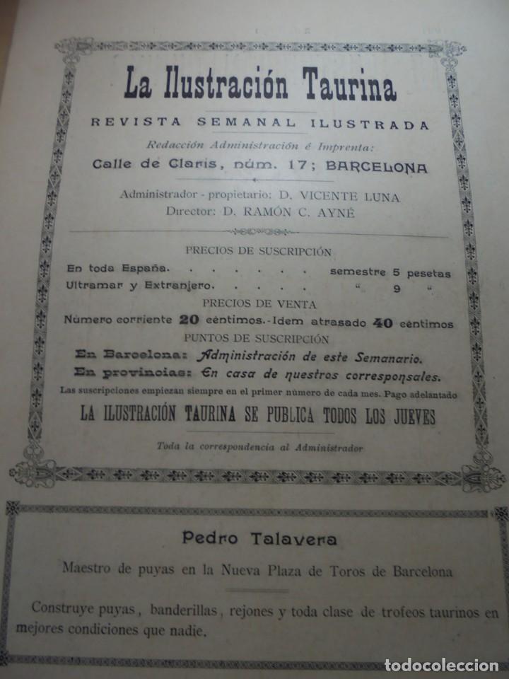 Tauromaquia: magnificas 8 revistas antiguas la ilustracion taurina del 1901 - Foto 119 - 247329780