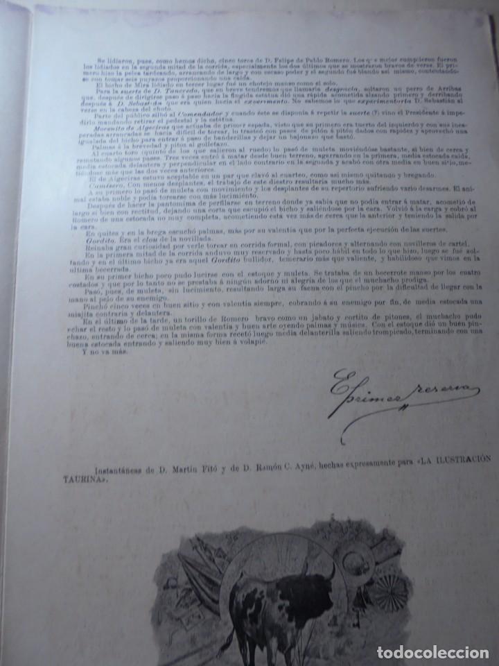 Tauromaquia: magnificas 8 revistas antiguas la ilustracion taurina del 1901 - Foto 122 - 247329780