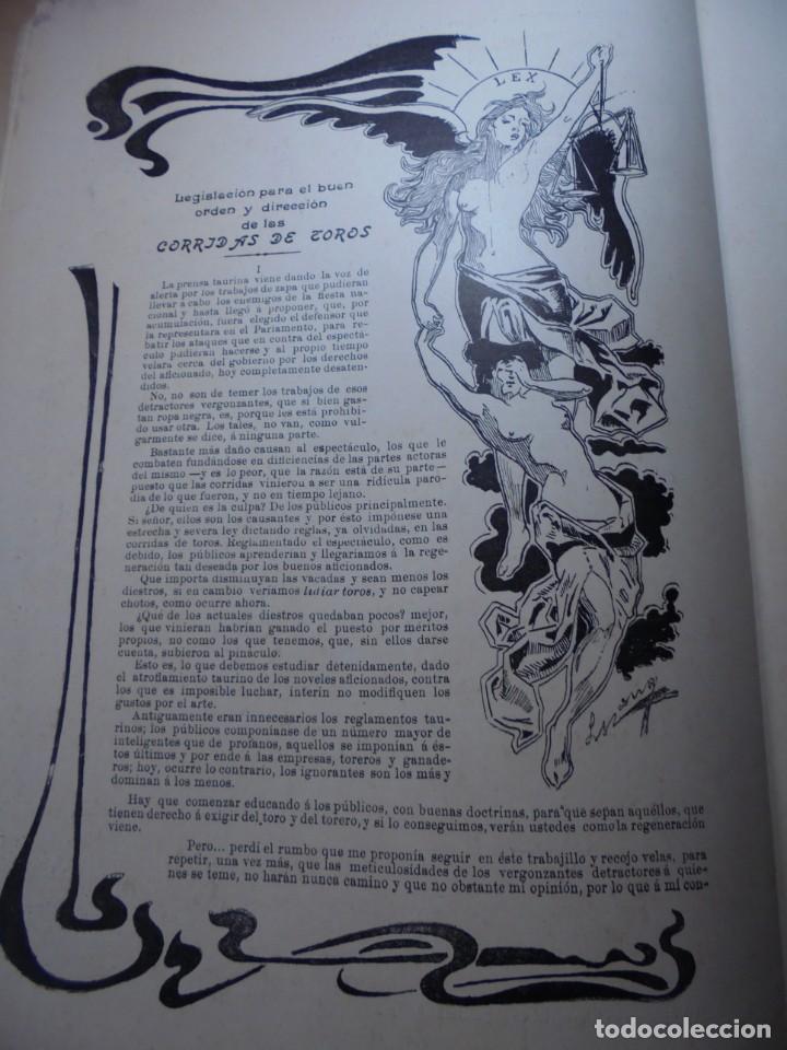 Tauromaquia: magnificas 8 revistas antiguas la ilustracion taurina del 1901 - Foto 125 - 247329780