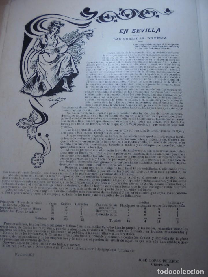 Tauromaquia: magnificas 8 revistas antiguas la ilustracion taurina del 1901 - Foto 127 - 247329780
