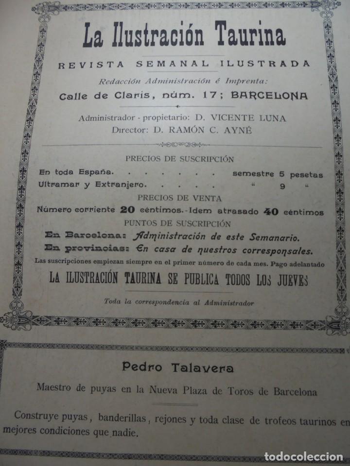 Tauromaquia: magnificas 8 revistas antiguas la ilustracion taurina del 1901 - Foto 139 - 247329780
