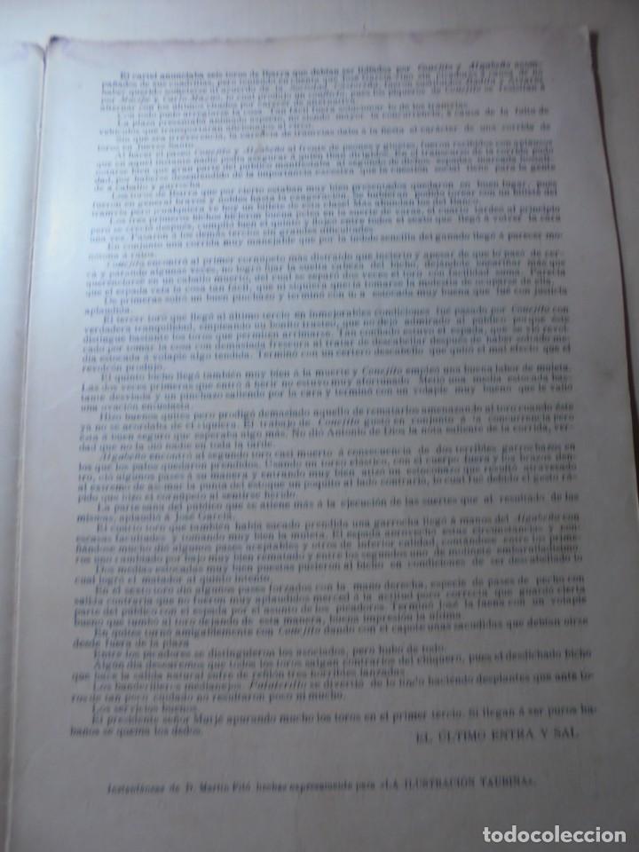 Tauromaquia: magnificas 8 revistas antiguas la ilustracion taurina del 1901 - Foto 142 - 247329780