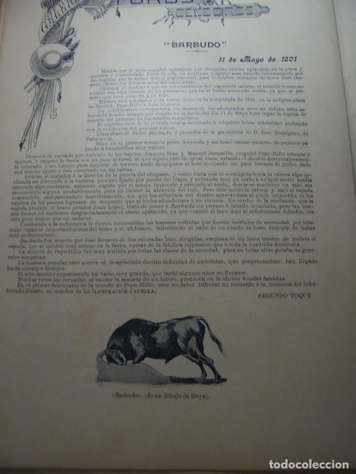 Tauromaquia: magnificas 8 revistas antiguas la ilustracion taurina del 1901 - Foto 149 - 247329780