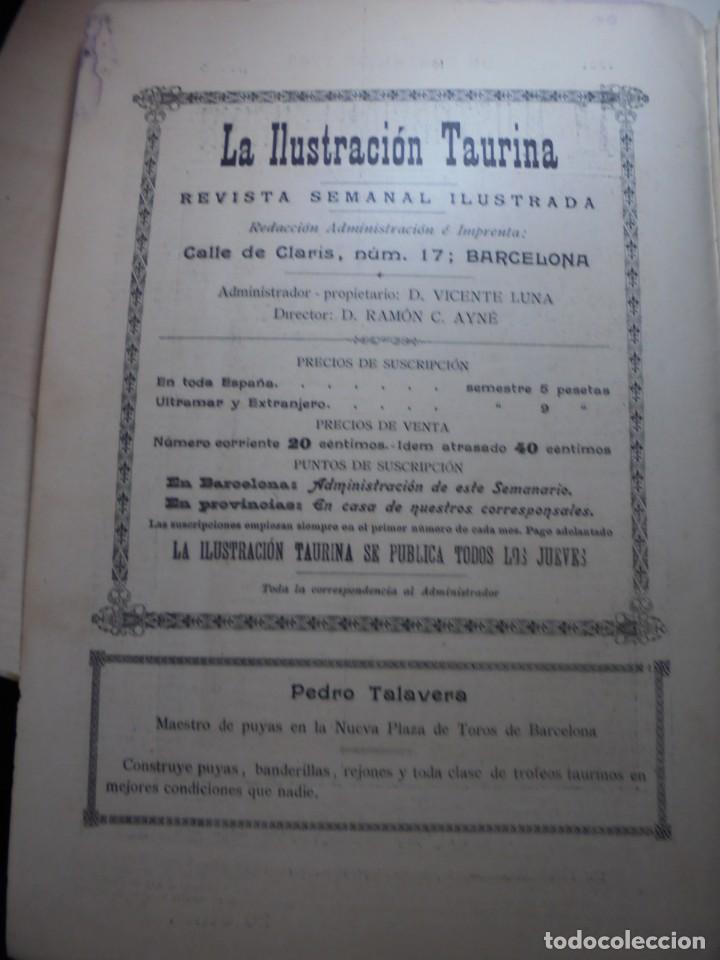 Tauromaquia: magnificas 8 revistas antiguas la ilustracion taurina del 1901 - Foto 159 - 247329780