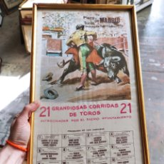 Tauromaquia: PLAZA DE TOROS DE MADRID, SAN ISIDRO 1972. CARTEL TAURINO. ENMARCADO 49X26. Lote 252504915
