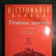 Tauromaquia: DICCIONARIO ESPASA DE TÉRMINOS TAURINOS - NUEVO. Lote 252771940