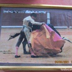 Tauromaquia: CURRO ROMERO , FOTO-POSTER EN CUADRO DE VERONICA AÑOS 80 , 40X30 CM EN CUADRO CRISTAL 48X38 CM. Lote 252995195