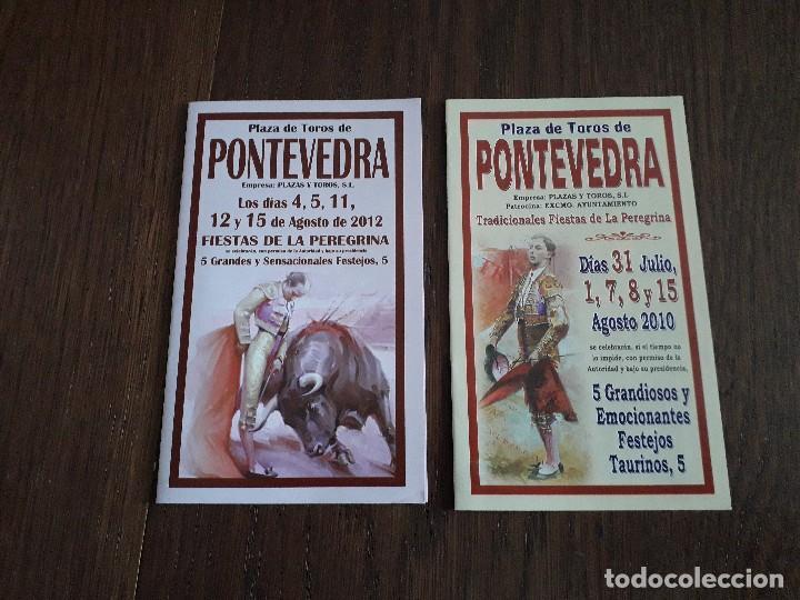 LOTE DE 2 PROGRAMAS DE CORRIDAS DE TOROS, PLAZA DE TOROS PONTEVEDRA, AÑOS 2010-2012 (Coleccionismo - Tauromaquia)