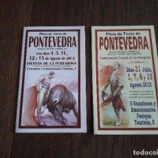 Tauromaquia: LOTE DE 2 PROGRAMAS DE CORRIDAS DE TOROS, PLAZA DE TOROS PONTEVEDRA, AÑOS 2010-2012. Lote 253261195