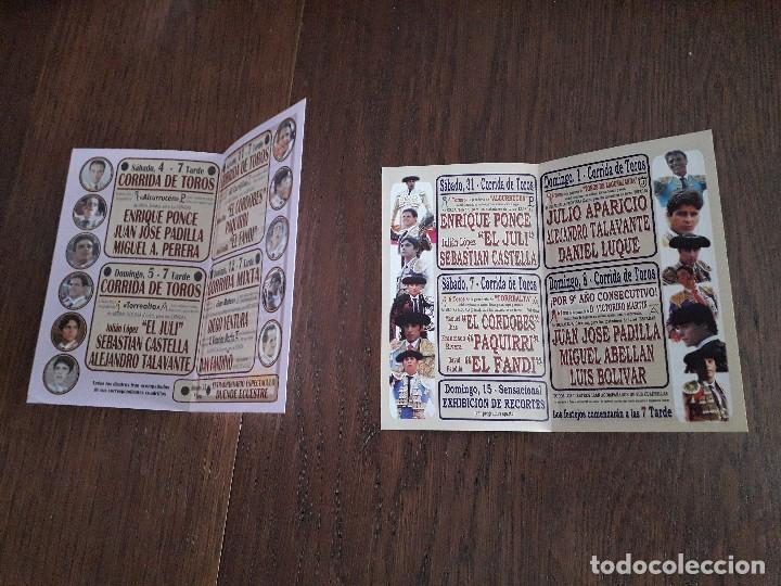 Tauromaquia: lote de 2 programas de corridas de toros, plaza de toros Pontevedra, años 2010-2012 - Foto 2 - 253261195