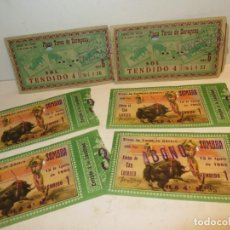 Tauromaquia: LOTE DE 6 ENTRADAS DE TOROS AÑO 1962 BUEN ESTADO PUBLICIDAD PEPSI COLA,BARATAS. Lote 255635365