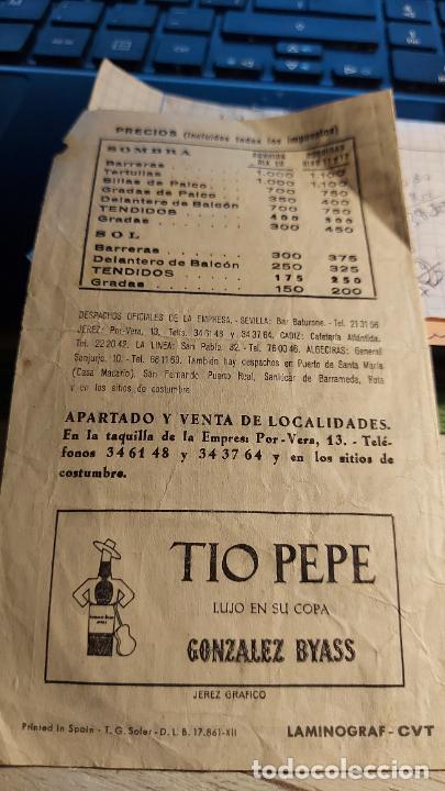 Tauromaquia: TOROS EN JEREZ FESTIVAL DE LA VENDIMIA 1971 CON GRANDES FIGURAS - Foto 2 - 258210215