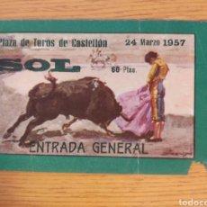 Tauromachia: ENTRADA PLAZA DE TOROS DE CASTELLÓN 24 MARZO 1957. Lote 259814905