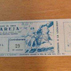 Tauromachia: ENTRADA PLAZA DE TOROS DE PAREJA 29 OCTUBRE 1967. Lote 259827395