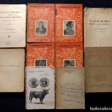 Tauromaquia: COLECCIÓN DE 10 LIBROS DE LA BIBLIOTECA TAURINA DE D. JUAN BELMONTE. TAUROMAQUIA.. Lote 259924940