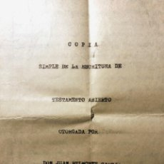 Tauromaquia: JUAN BELMONTE. TESTAMENTO. IMPORTANTE COLECCIÓN DOCUMENTAL (1892-1962). Lote 259938640