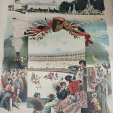 Tauromaquia: GRABADO REVISTA TAURINA LA LIDIA ARANJUEZ 1886, LIT DE J. PALACIOS.. Lote 260048380