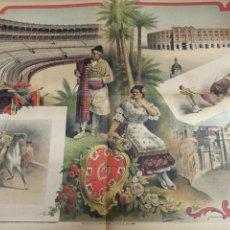 Tauromaquia: CARTEL TOROS DOBLE, MURCIA TEMPORADA TAURINA DE 1888, REVISTA LA LIDIA LITOGRAFIA J. PALACIOS. Lote 260050140