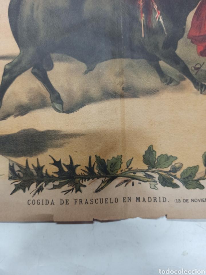 Tauromaquia: LA LIDIA, REVISTA TAURINA, COGIDA DE FRASCUELO EN MADRID, 9 ABRIL 1888 LITOGRAFIA EN COLOR ORIGINAL - Foto 5 - 260868230