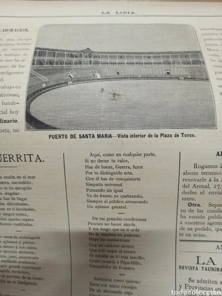 Tauromaquia: TOROS, REVISTA TAURINA LA LIDIA, NUM 17 EXTRAORDINARIO 1883, DEDICADO A RAFAEL GUERRA (GUERRITA). - Foto 2 - 261039325