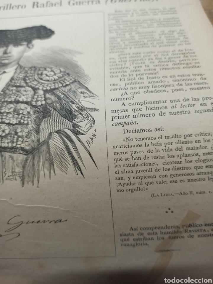 Tauromaquia: TOROS, REVISTA TAURINA LA LIDIA, NUM 17 EXTRAORDINARIO 1883, DEDICADO A RAFAEL GUERRA (GUERRITA). - Foto 3 - 261039325