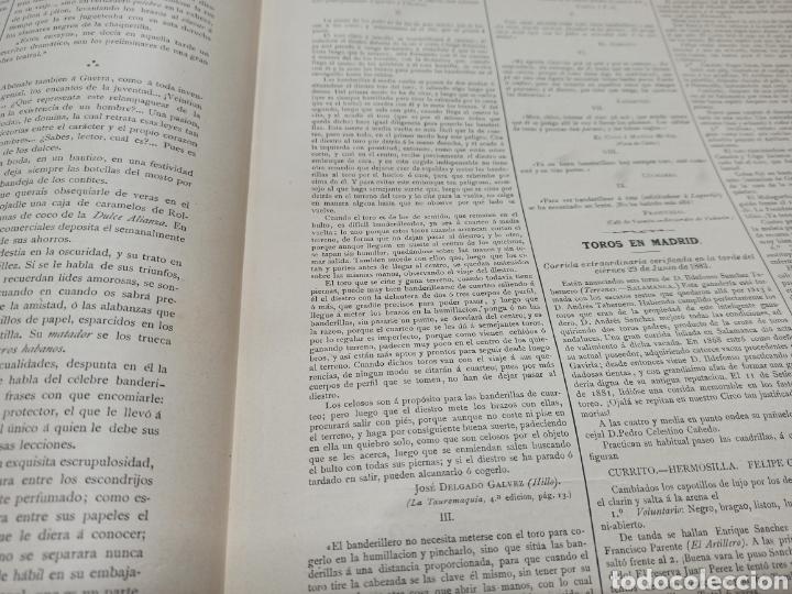 Tauromaquia: TOROS, REVISTA TAURINA LA LIDIA, NUM 17 EXTRAORDINARIO 1883, DEDICADO A RAFAEL GUERRA (GUERRITA). - Foto 4 - 261039325