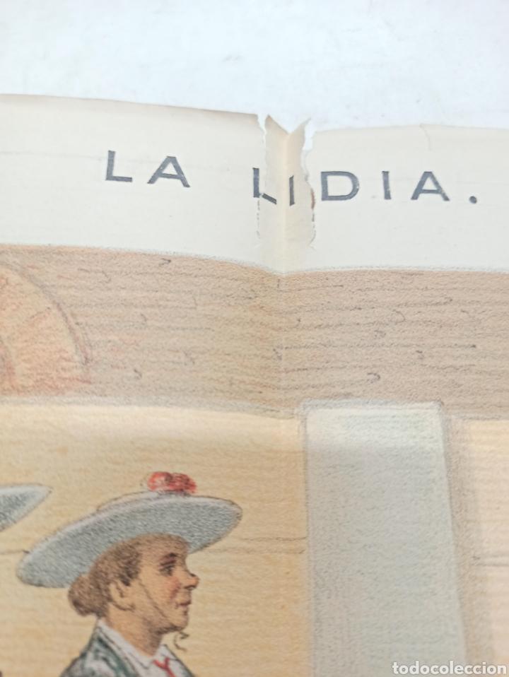 Tauromaquia: REVISTA LA LIDIA, 17 ABRIL 1882, PASEO DE LAS CUADRILLAS, LITOGRAFIA DE J. PALACIOS - Foto 2 - 261103125