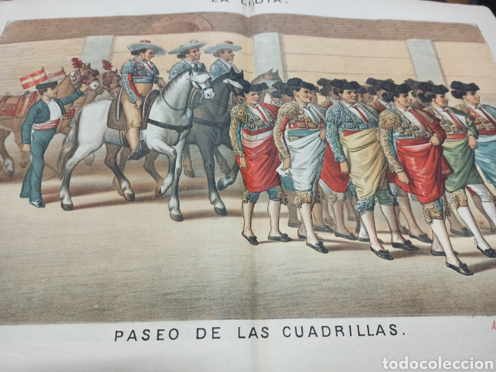 REVISTA LA LIDIA, 17 ABRIL 1882, PASEO DE LAS CUADRILLAS, LITOGRAFIA DE J. PALACIOS (Coleccionismo - Tauromaquia)