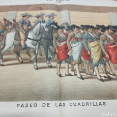Tauromaquia: REVISTA LA LIDIA, 17 ABRIL 1882, PASEO DE LAS CUADRILLAS, LITOGRAFIA DE J. PALACIOS. Lote 261103125