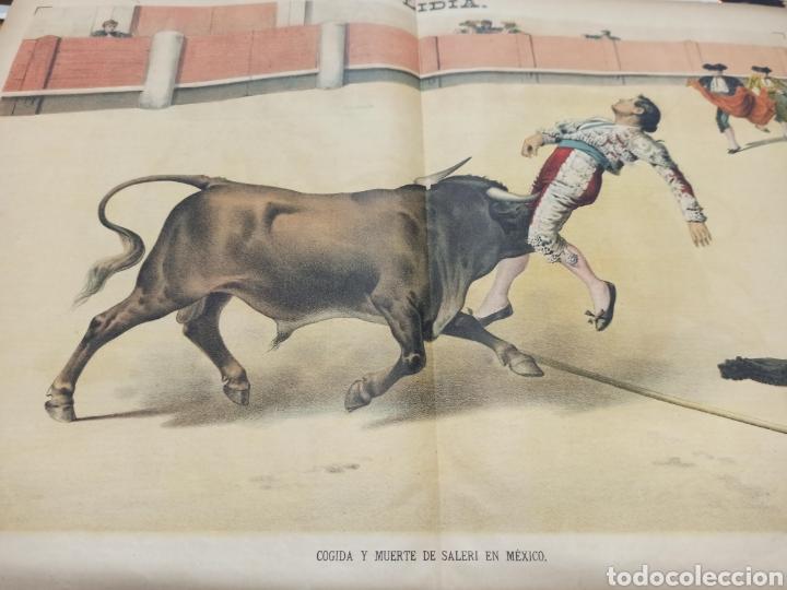 LA LIDIA, REVISTA TAURINA, 23 ABRIL 1888, COGIDA Y MUERTE DE SALERI EN MEXICO LIT. J. PALACIOS. (Coleccionismo - Tauromaquia)