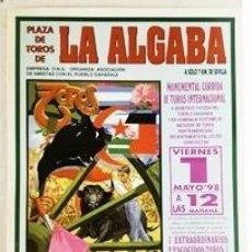 Tauromachia: CARTEL DE TOROS. PLAZA DE TOROS DE LA ALGABA 1 DE MAYO DE 1998 - CARTELTOROS-0106,2. Lote 261532935