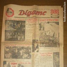 Tauromaquia: ROTATIVO GRAFICO--DIGAME- Nº 1,065. MARTES 31 DE MAYO 1960,- VER FOTOS. Lote 262515400