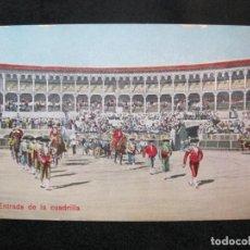 Tauromaquia: CORRIDA DE TOROS-ENTRADA DE LA CUADRILLA-POSTAL ANTIGUA-(80.564). Lote 262628270