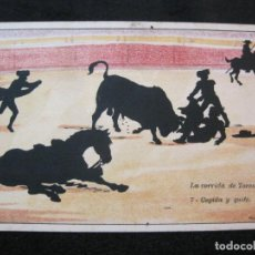 Tauromaquia: CORRIDA DE TOROS-COGIDA Y QUITE-POSTAL ANTIGUA-(80.569). Lote 262628795