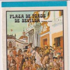 Tauromaquia: CARTEL DE MANO (20,5X24) PLAZA DE TOROS DE SEVILLA. DOMINGO DE RESURRECCIÓN Y FERIA DE ABRIL DE 1973. Lote 262683365