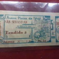 Tauromaquia: SAN SEBASTIÁN. ANTIGUA ENTRADA DE TOROS DE 1947. Lote 262777730