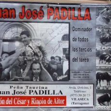 Tauromaquia: CALENDARIO FOTOGRÁFICO DE JUAN JOSE PADILLA CON AUTÓGRAFO. Lote 262790555