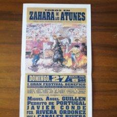Tauromaquia: TOROS ZAHARA DE LOS ATUNES 27 MARZO 1994. Lote 262989235