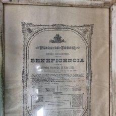 Tauromaquia: ANTIGUO CARTEL TOROS MADRID 1885 EXTRAORIDINARIA LAGARTIJO FRASCUELO EL GALLO Y MAZZANTINI EN SEDA. Lote 264348139