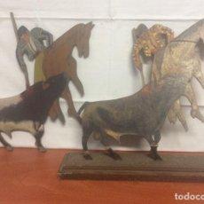 Tauromaquia: ANTIGUAS FIGURAS DE TOREROS REALIZADAS EN MADERA. Lote 264787679