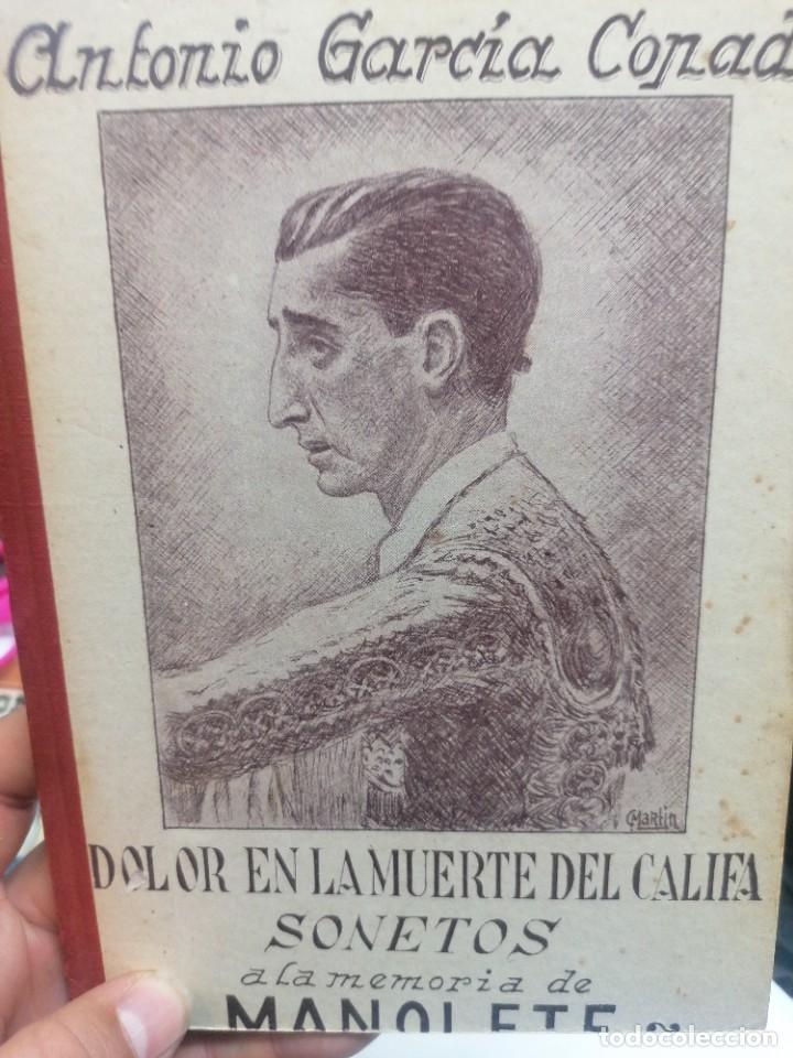 ANTONIO GARCÍA COPADO. DOLOR EN LA MUERTE DEL CALIFA. SONETOS A LA MEMORIA DE MANOLETE (Coleccionismo - Tauromaquia)