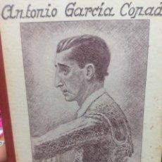 Tauromaquia: ANTONIO GARCÍA COPADO. DOLOR EN LA MUERTE DEL CALIFA. SONETOS A LA MEMORIA DE MANOLETE. Lote 265474719