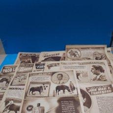 Tauromaquia: TAUROMAQUIA..LOTE DE 18 PAGINAS PUBLICADAS EN LA REVISTA APLAUSO EN 1949..... Lote 268970439