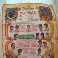 Tauromaquia: PAÑUELO TELA CARTEL DE TOROS FIESTAS DE EL PILAR 1994 ZARAGOZA. Lote 269177908