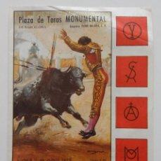 Tauromaquia: DÍPTICO PLAZA DE TOROS MONUMENTAL DE BARCELONA JUNIO 1973 / LUIS MIGUEL DOMINGUIN - EL VITI - .... Lote 269247128